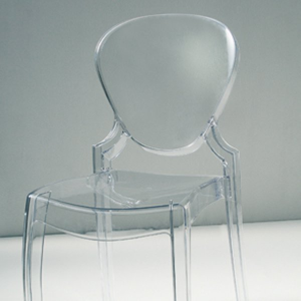sedia policarbonato trasparente