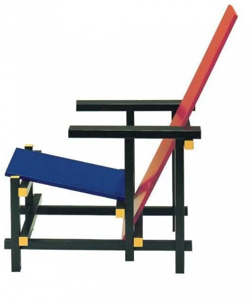 Sedia Poltrona Red And Blue Gerrit Thomas Rietveld