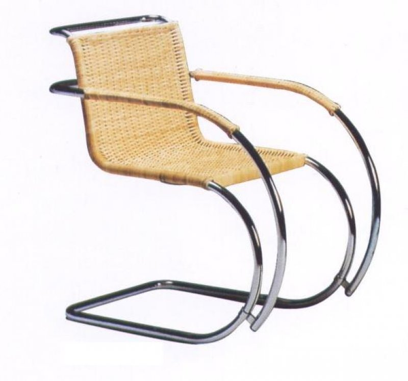 sedia poltroncina mr chair midollino ludwig mies van der rohe. Black Bedroom Furniture Sets. Home Design Ideas