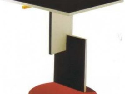 Tavolino red and blue coffe table gerrit thomas rietveld - Mobili bauhaus repliche ...