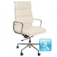 Poltrona ufficio pelle alta C.Eames