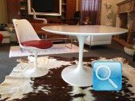 Tavolo Saarinen 120 cm + 4 sedie Tulip ABS