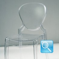 Sedia trasparente policarbonato