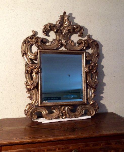 Speccho cornice dorata for Mobili bauhaus repliche